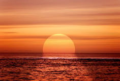 Beautiful sunset by the sea Royalty Free Stock Photo