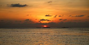 Beautiful sunset in the sea Stock Photography