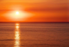 Beautiful sunset with sea Stock Images