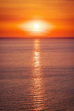 Beautiful sunset with sea Royalty Free Stock Image