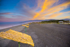 Beautiful sunset on sea  Alakol Central Asia Royalty Free Stock Image