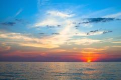 Beautiful sunset and sea beach. Royalty Free Stock Photography