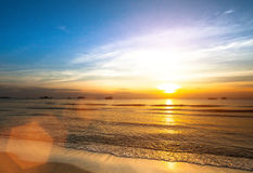 Beautiful sunset on the sea beach. Nature. Royalty Free Stock Images