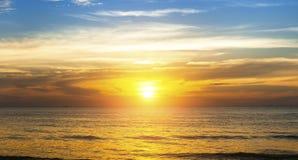 Beautiful sunset in the Sea beach. Nature. Stock Photos