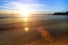 Beautiful sunset on the sea beach. Travel. Beautiful sunset on the sea beach Royalty Free Stock Photography