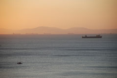 Beautiful sunset on the  sea. Beautiful sunset on the black sea Royalty Free Stock Image