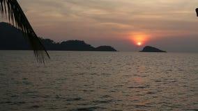 Beautiful sunset on the sea coast. Nature stock video