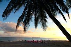 Beautiful sunset on sea coastline Stock Images
