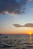 Beautiful sunset at the sea Royalty Free Stock Image