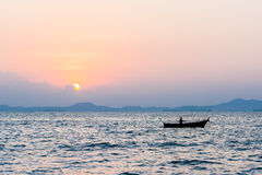 Beautiful sunset on the sea Royalty Free Stock Image