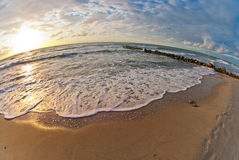 Beautiful sunset at the sea Stock Photography