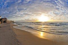 Beautiful sunset at the sea Royalty Free Stock Photos