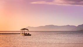 Beautiful sunset by the sea in Makarska, Dalmatia, Croatia Stock Images