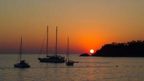 Beautiful sunset at sea Stock Photography