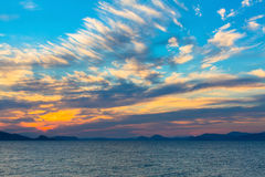 Beautiful sunset in the Sea. Nature. Stock Photo