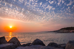 Beautiful sunset on the sea Stock Photography