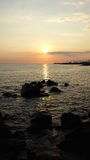 Beautiful sunset on the sea Royalty Free Stock Images