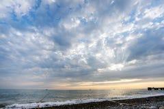Beautiful sunset on sea Stock Image