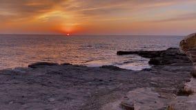Beautiful sunset at sea in Shirahama in Wakayama prefecture