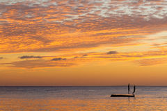 Beautiful sunset sea and sky, summer vacations Royalty Free Stock Photos