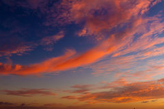 Beautiful sunset sea and sky, summer vacations Royalty Free Stock Images