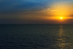 Beautiful sunset on the sea. Summer background. stock images