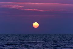 Beautiful sunset on the sea. Summer background. royalty free stock image
