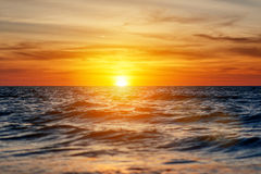 Beautiful sunset in the sea Royalty Free Stock Photo