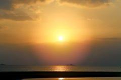 Beautiful sunset on the sea Stock Image