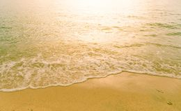 Beautiful sunset on the sea at twilight times. Vintage Filter Royalty Free Stock Images