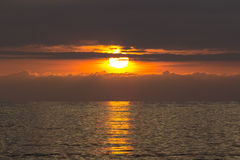 Beautiful sunset on the sea. Very beautiful sunset on the sea Stock Photo