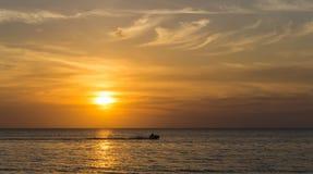 Beautiful sunset on the sea Royalty Free Stock Photo