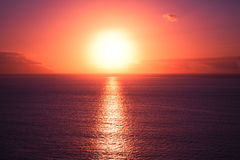 Beautiful sunset at seascape Royalty Free Stock Images