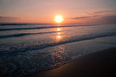 Beautiful sunset on the seascape Stock Images