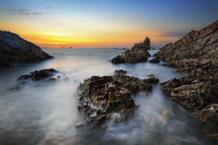 Beautiful Sunset Seascape Stock Photography