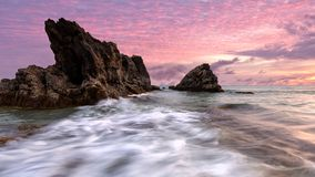 Beautiful sunset of seascape in Phuket Thailand. Beautiful sunset of seascape in Phuket Thailand stock photos