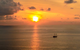 Beautiful sunset seen from Promthep cape in Phuket Royalty Free Stock Images