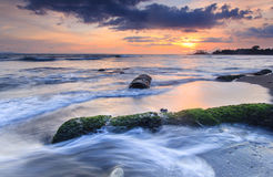 Beautiful Sunset. At senggigi beach lombok Stock Images