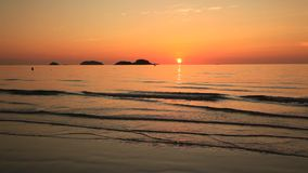 Beautiful sunset on the shore of a tropical island. Koh Chang stock footage