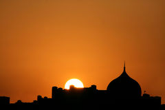 Beautiful sunset  silhouette of dome Royalty Free Stock Image