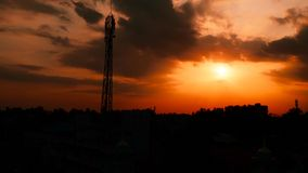 Beautiful Sunset Silhouette Stock Photography