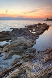 Beautiful sunset in Sithonia, Greece Stock Photo