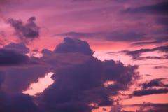 Beautiful sunset in sky Stock Image
