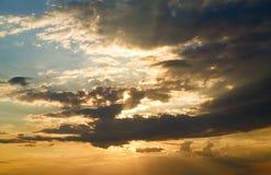 Beautiful sunset sky Stock Photography