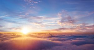 Free Beautiful Sunset Sky Above Clouds Stock Photo - 115612370