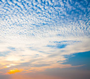 Beautiful sunset sky. With abstract cloud stock image