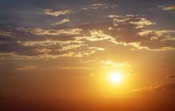 Beautiful sunset sky. Royalty Free Stock Photo
