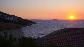 Beautiful sunset sky in Kas, Turkey stock video