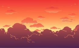 Beautiful sunset sky background. Vector illustration. Beautiful sunset sky background. Cloudy twilight sky.Vector illustration royalty free illustration