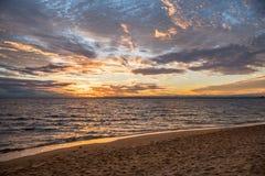Beautiful sunset sky, beach and sea Stock Photo